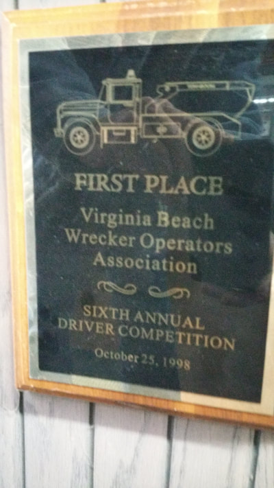 picture of Virginia Beach Va Wrecker Operators Assoc. First Place driver competition